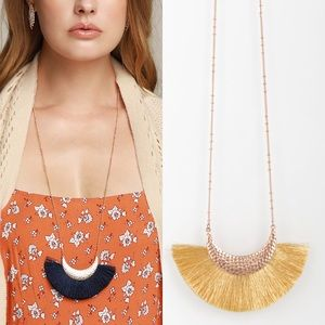 Jewelry - 3 for $13 | NEW! Fan Tassel Necklace - Gold